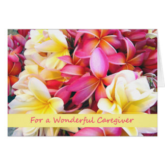 Thank You for Caregiver of Aging Parents, Plumeria Card
