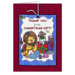 Thank You for Christmas Gift-Lion and Lamb Greeting Cards