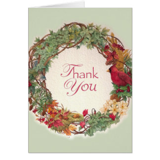 THANK YOU FOR CHRISTMAS GIFT wreath Card