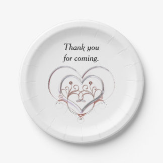 Thank You For Coming 7 Inch Paper Plate