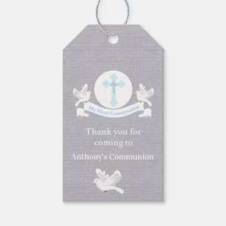 Thank You For Coming Boys Communion Tag