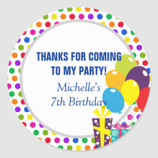 Thank You for Coming - Party Favor Sticker