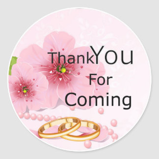 Thank you for coming sticker pink