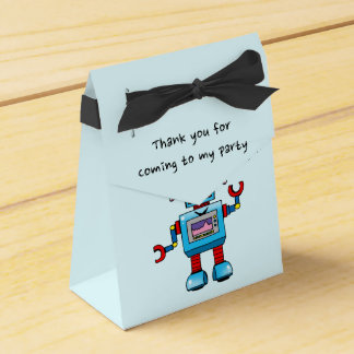 Thank you for coming to my party (toy robot) favor box