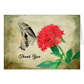 Thank You for Dinner Card, Butterfly Card