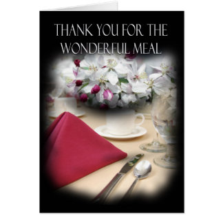 Thank You For Dinner Stylish Card