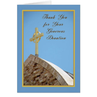 Thank You For Donation Card with Celtic Cross