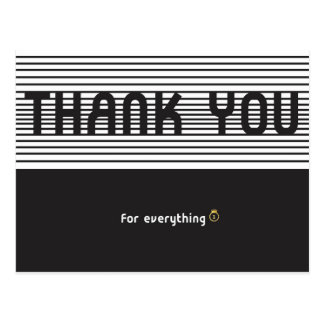 Thank you for everything. postcard