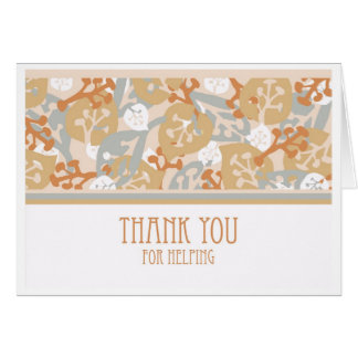 Thank You for Helping, Craftsman Style Card