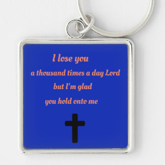 Thank you for holding me God Keychain