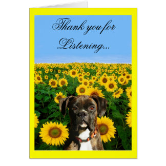 Thank You for Listening boxer greeting card