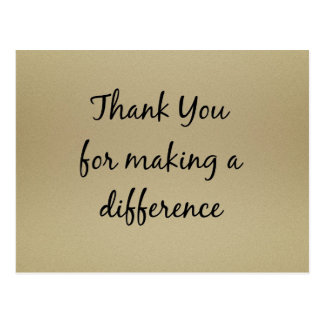 Thank you for Making a Difference Postcard