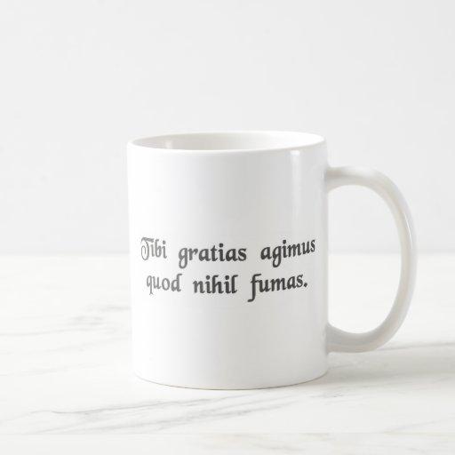 Thank you for not smoking coffee mug