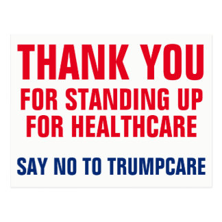 Thank You for Saying NO to Trumpcare AHCA Postcard