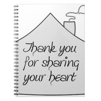 Thank you for Sharing Spiral Notebooks