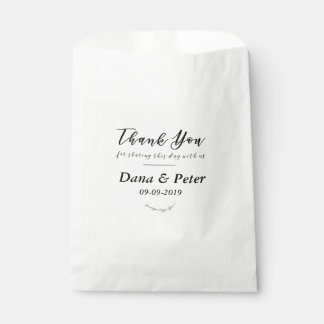 Thank You For Sharing This Day With Us Favor Bag