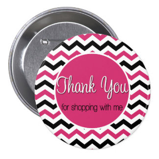 Thank you for shopping with me 3 inch round button