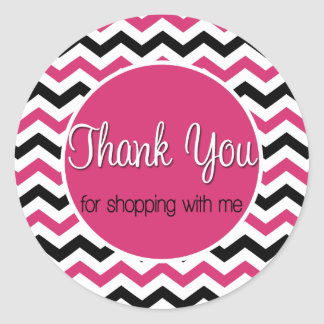 Thank you for shopping with me round sticker