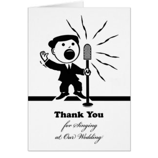Thank You for Singing at Our Wedding, Singer Mic Card
