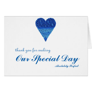 Thank you for special day with Bubbles Heart Card