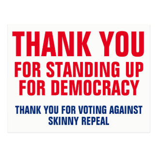 Thank You for Standing Up for Democracy Template Postcard