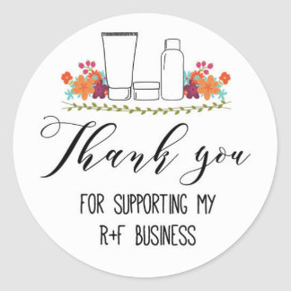 Thank you for supporting my RF business Round Sticker