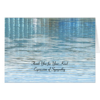 Thank You for Sympathy, Lake Reflection Card
