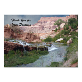 Thank You for the Donation, Unspoiled Waterfalls Card