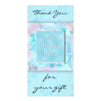 Thank you for the gift -blue customized photo card