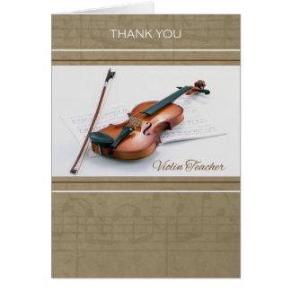 Thank You for Violin Teacher Card