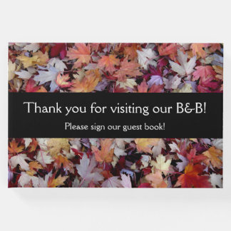 """Thank you for visiting our B&B!"" + Autumn Leaves Guest Book"