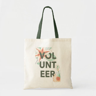 thank you for volunteering flowers tote bag