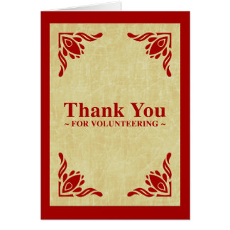 thank you for volunteering greeting card