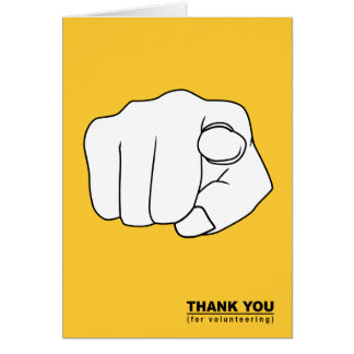 thank you for volunteering hand illustration card