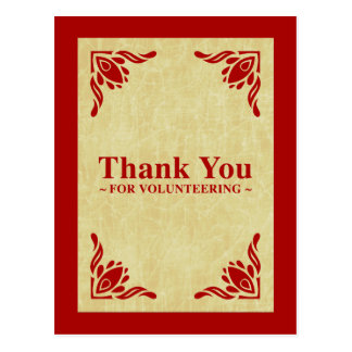 thank you for volunteering postcard
