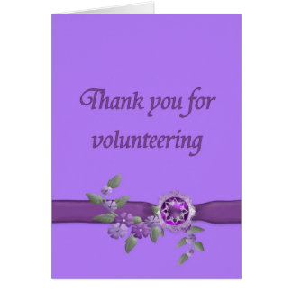 Thank You for Volunteering, Purple Card