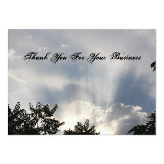 "Thank you for your business 5"" x 7"" invitation card"