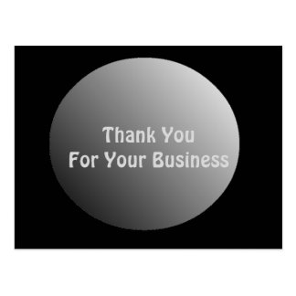 Thank You For Your Business Postcard