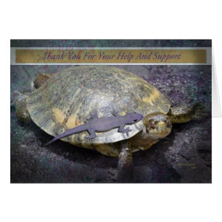Thank You For Your Help And Support - Turtle Gecko Card