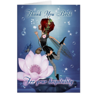 Thank You For Your Hospitality - Fairy Greeting Ca Card