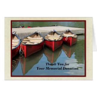 Thank You for Your Memorial Donation, Red Canoes Card