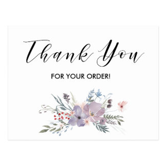 Thank You For Your Order Card Postcard