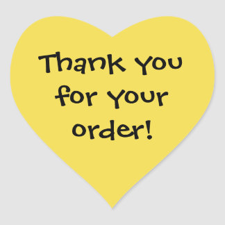 Thank You for Your Order Sticker -selling help