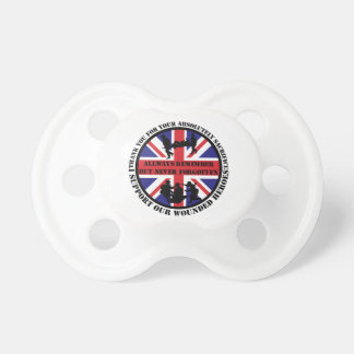 Thank you for your Sacrifice UK Soldiers Baby Pacifiers