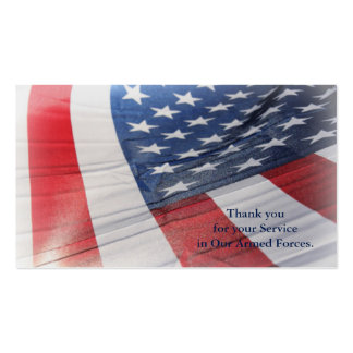 Thank you for your Service Armed Forces Card Business Card