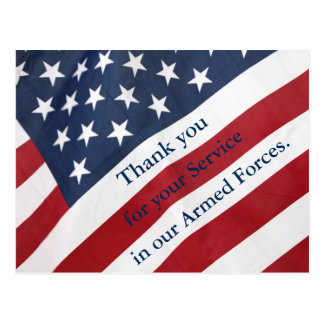 Thank you for your Service Armed Forces Postcard