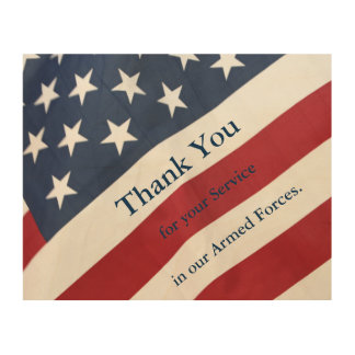 Thank you for your Service Armed Forces Wall Art Wood Canvases