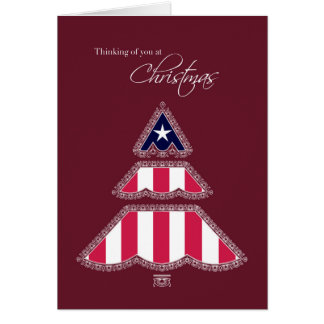 Thank you for Your Service at Christmas, Patriotic Card