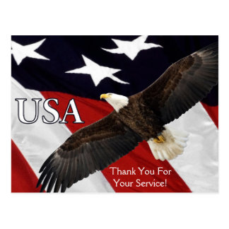 Thank You For Your Service Eagle Postcard