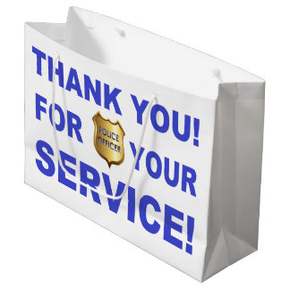 Thank You For Your Service Large Gift Bag